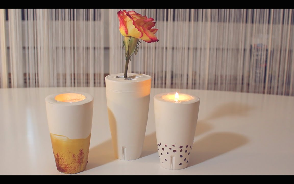 diy weihnachtsgeschenk vase oder kerzenst nder selbermachen youtube. Black Bedroom Furniture Sets. Home Design Ideas