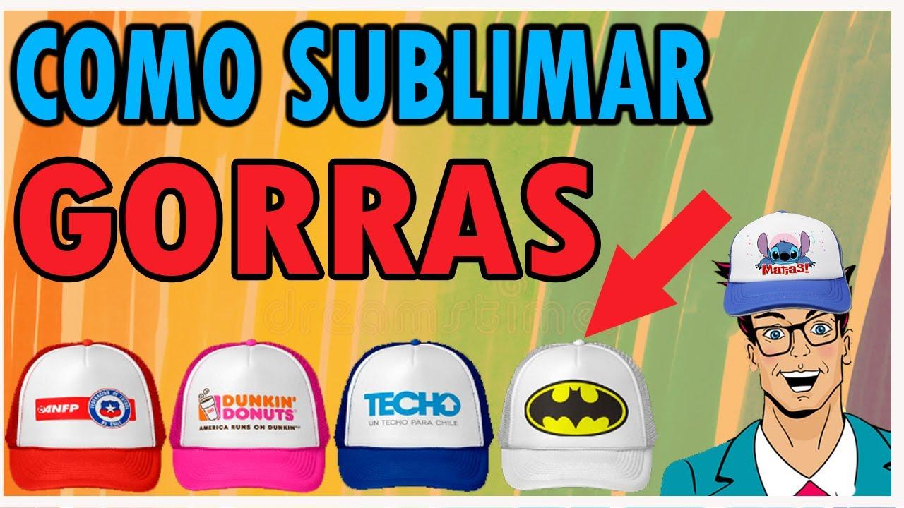 Como sublimar gorras para niÑos youtube jpg 1280x720 Sublimar ideas para  estampar gorras a991f2f36b3