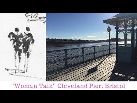 Woman Talk, Clevedon Pier, Bristol
