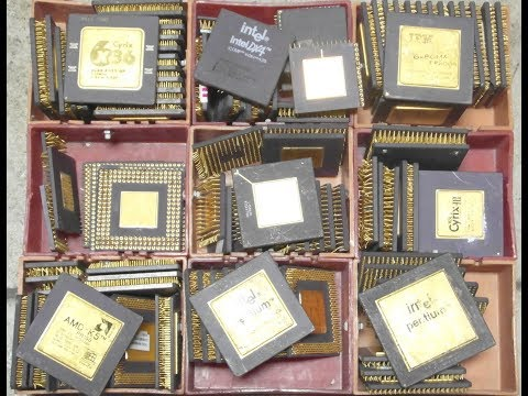 Ceramic CPUs: 5kg mix for GOLD recovery