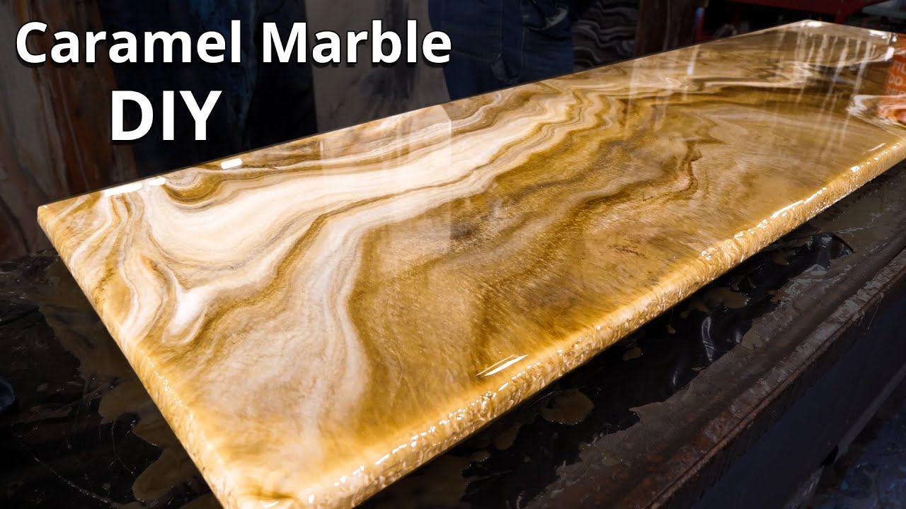 Caramel Marble: How I made My Own Countertop for Much Less | Stone Coat Epoxy