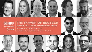 QUBE NPF Webinar 2020: The Power of RegTech #npf #qube #webinar