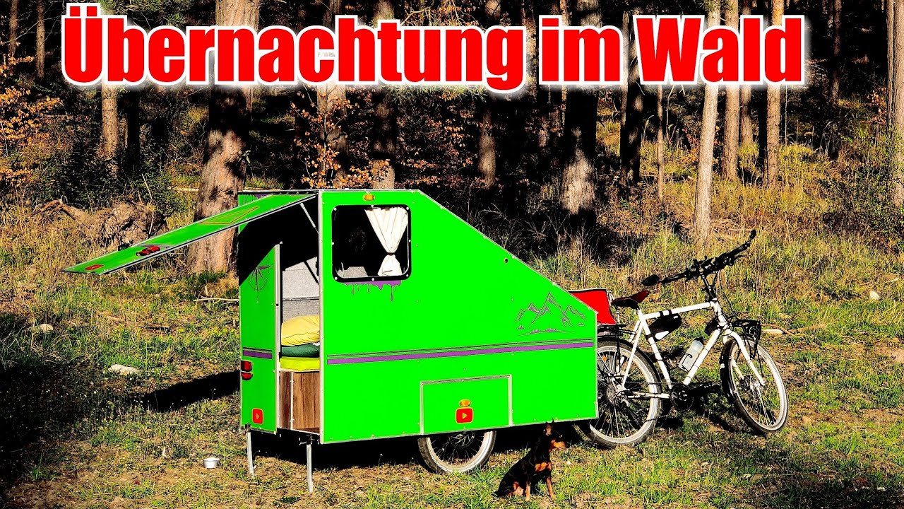 Ubernachtung Im Wald Mit Dem Fahrradwohnwagen 3tage On Tour