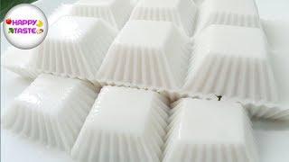 วุ้นมะพร้าวน้ำหอมวิธีทำให้วุ้นไม่คายน้ำไม่แยกชั้น Coconut jelly recipe| happytaste