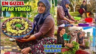 Yeni Köy Evimiz İFTAR YEMEĞİ Patlıcan Köftesi | ANNEM ve EŞİM Yaprak Hasadı günlük vlog RAMAZAN AYI