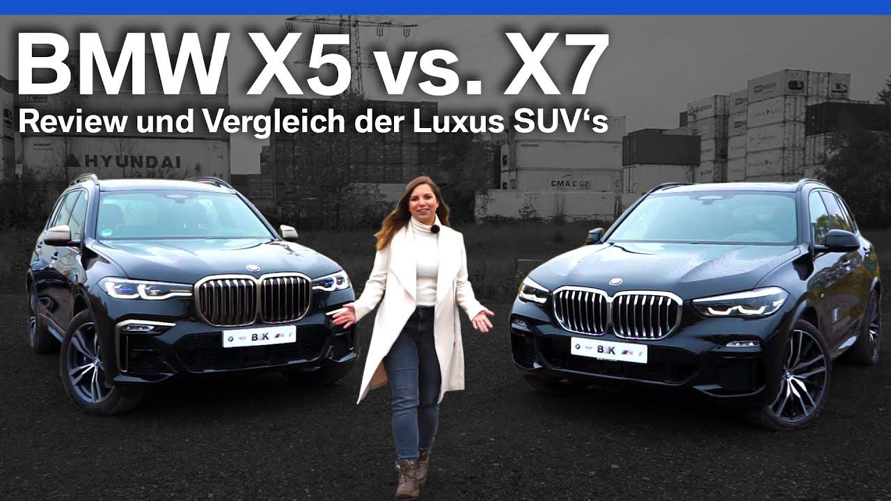 Bmw X5 Vs X7 Review Und Vergleich Von Bmw S Luxus Suv S Youtube