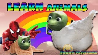 Learn Animals With Dame Tu Cosita 🎈 Funny Alien Dance 🎈 Funny Puzzle Finger Family Rhymes for Kids