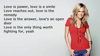 #Carrie Underwood - Love Wins official lyrics video :)