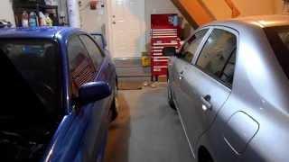 My 2-car Garage Setup & Organization For My Subaru Impreza Wrx Sti And Toyota Corolla