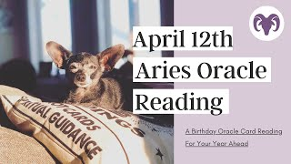 🐏 April 12th  Birthday Reading ♊️ Aries Horoscope Yearly Oracle Guidance  👩🏼‍🎨POTENTIAL FOR . . . 🧐