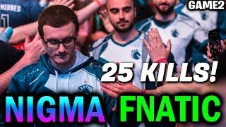 NIGMA vs FNATIC — 25 KILLS Monster! Leipzig Major Dota2