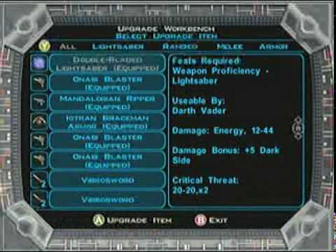 duplicate lightsaber KOTOR II 2 Sith Lords XBOX