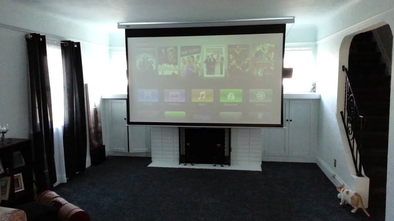 Epson Projector Screen : Epson projector and favi quot electric screen youtube