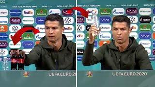 Tüm dünya bu hareketi konuşuyor... Ronaldo, Coca-Cola şişelerini kenara attı!