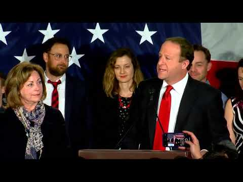 Democrat Jared Polis gives victory speech after winning Colorado governor\'s race
