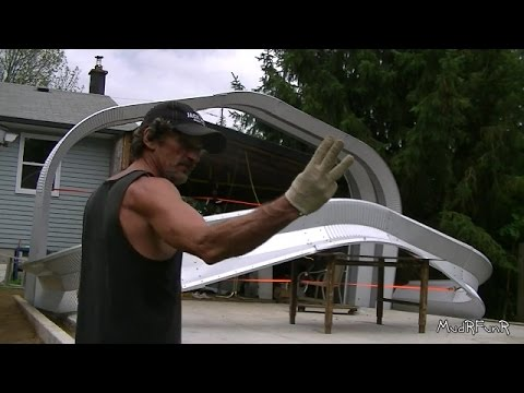 Steel Building Assembly 1/15 - Raising The First Arch