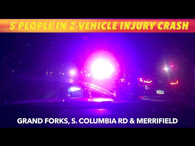 UPDATE: 5 People In 2-Vehicle, Saturday Night, Grand Forks Injury Crash