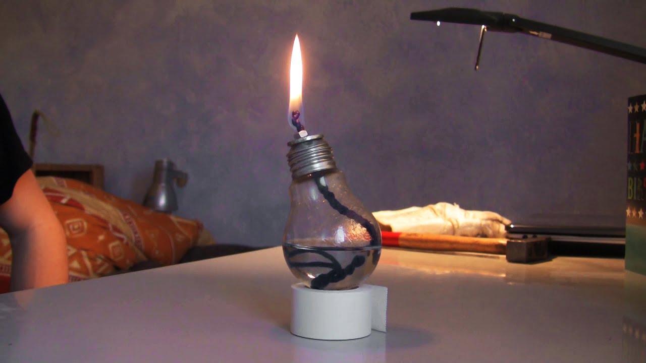 Öl Lampe selber machen ganz einfach