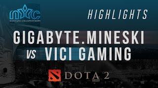 [DOTA 2] Mineski-DOTA Highlights 24: GIGABYTE.Mineski vs Vici Gaming - Nanyang DOTA 2 Championships