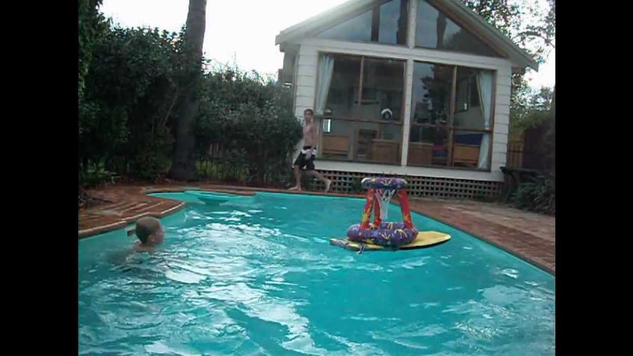 Amazing basketball trick shots pool edition youtube - Awesome swimming pool trick shots ...