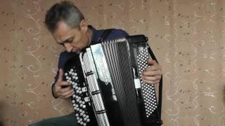"Knopfakkordeon Weltmeister Seperato. Klangprobe, Tango ""Utomlönnoe  Solnze"""