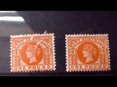 western australia victoria stamps