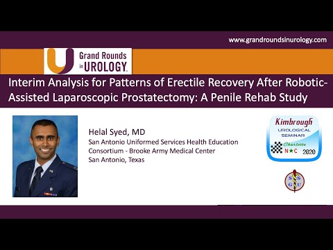 Interim Analysis For Patterns Of Erectile Recovery After Robotic Assisted Laparoscopic Prostatectomy Youtube