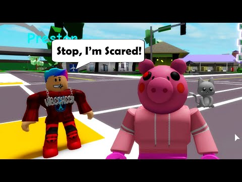Trolling People As PIGGY in Roblox BrookHaven RP!