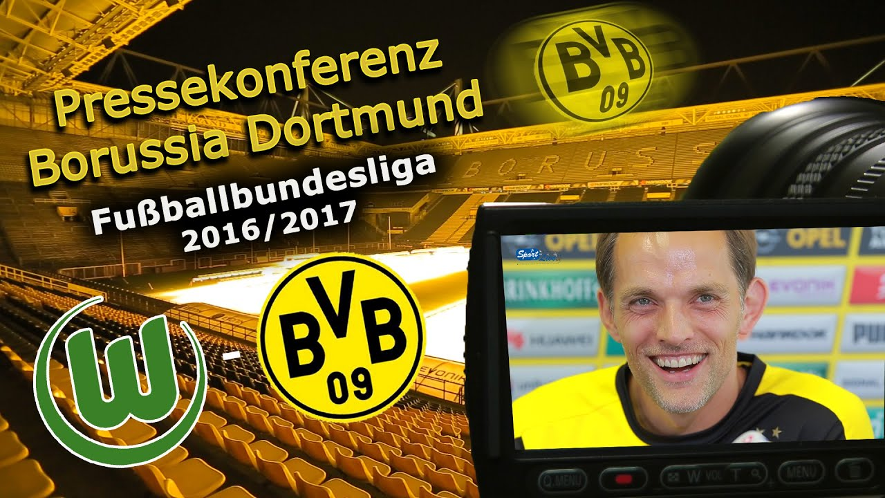 VfL Wolfsburg - Borussia Dortmund: Pk mit Thomas Tuchel