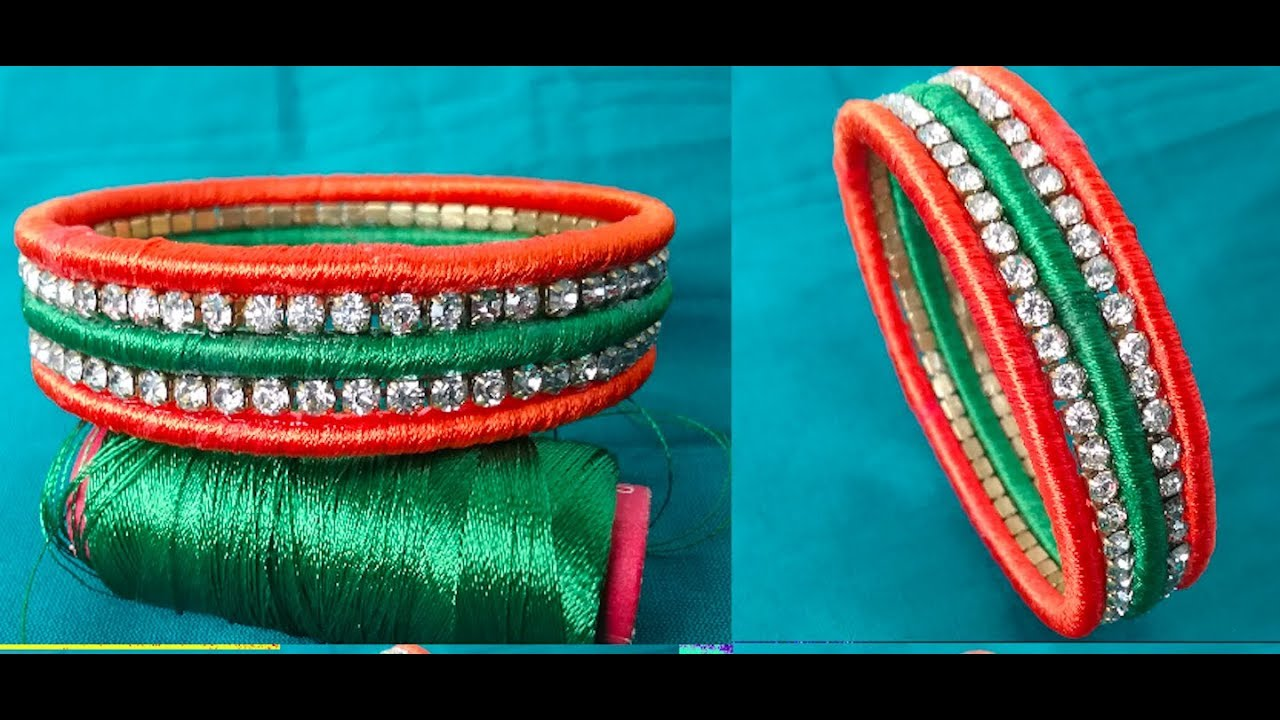 checker silk thread hasthakalaa kids bangles tricolor archives for