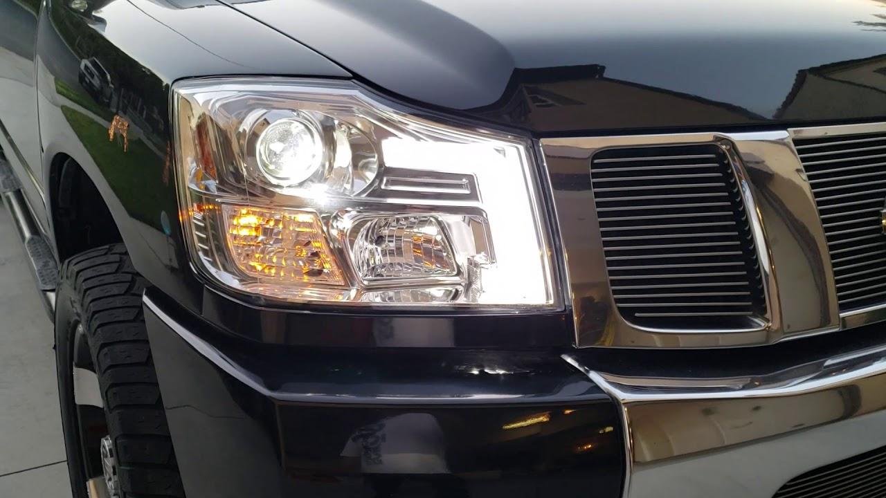 2004 nissan titan led light tube projector headlights headlamps part 4 [ 1280 x 720 Pixel ]