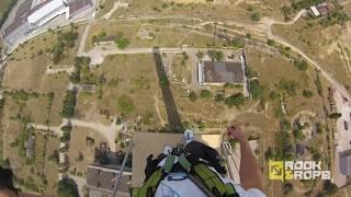 Rope-Jumping ,Роуп-джампинг Запорожье труба 120 метров ( Rock and Rope)