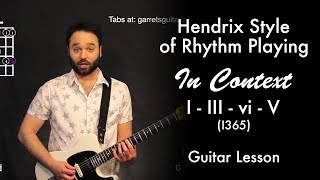hendrix style of rhythm playing in context i iii vi v 1365