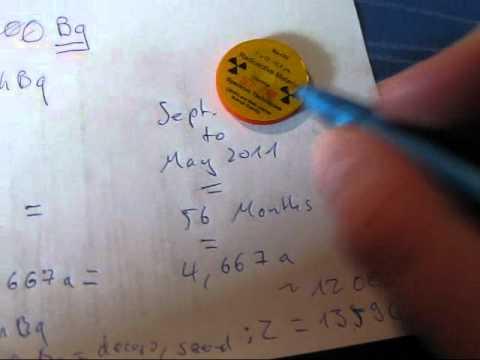 efficiency calculations for a geiger mueller counter / tube (gamma scout)