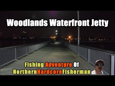 Singapore Fishing Trip: Night Fishing at Woodlands Waterfront Jetty | FishingAdvNHF