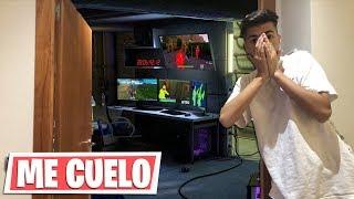 Me Cuelo en CASA del HACKER y Le PILLO Haciendo TRAMPAS en Fortnite...
