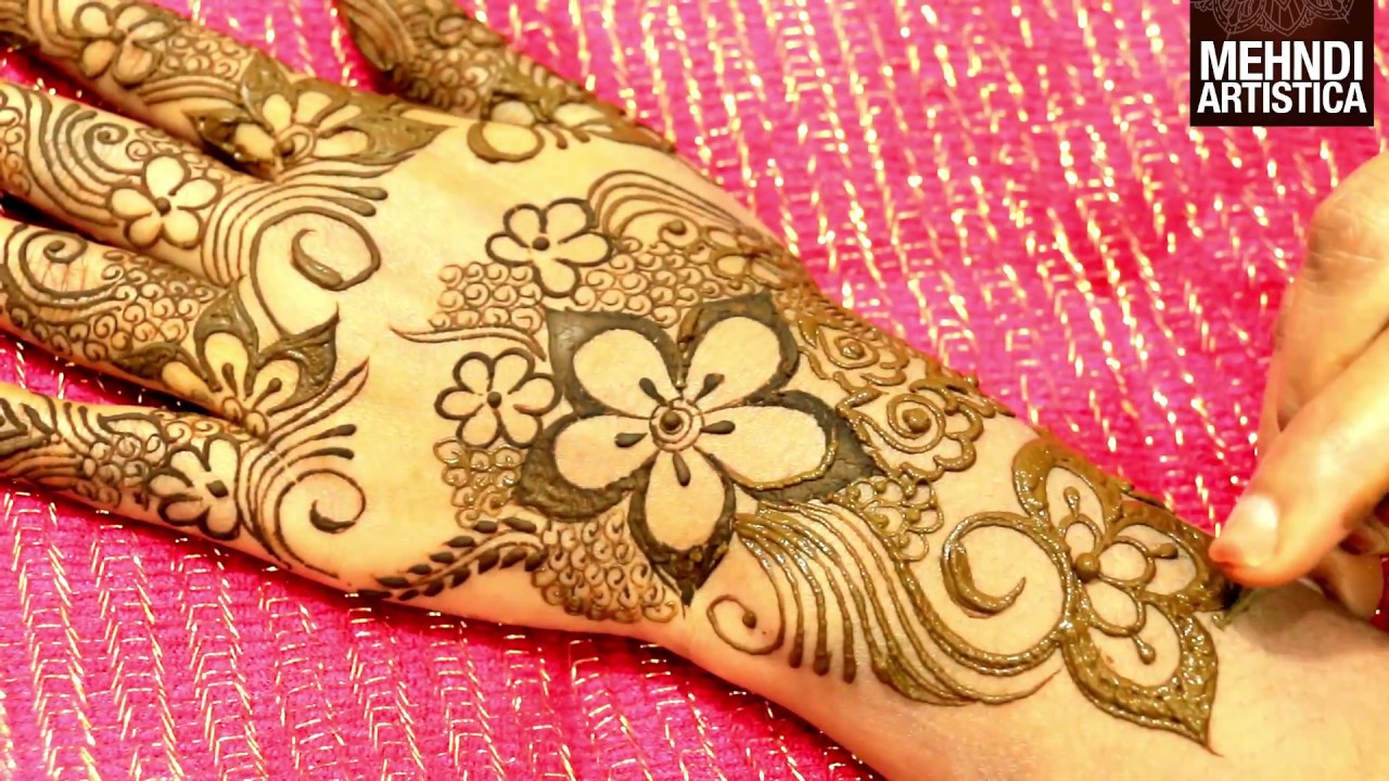 Floral Henna Designs: Wedding Season Floral Mehndi Designs For Hands:Latest Easy