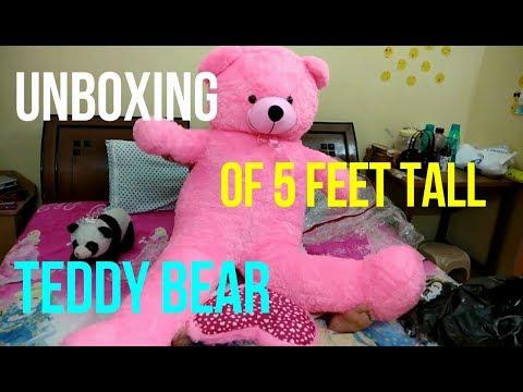 UNBOXING OF 5 FEET TEDDY BEAR | Every Girl's Dream |Humongous Teddy Bear |