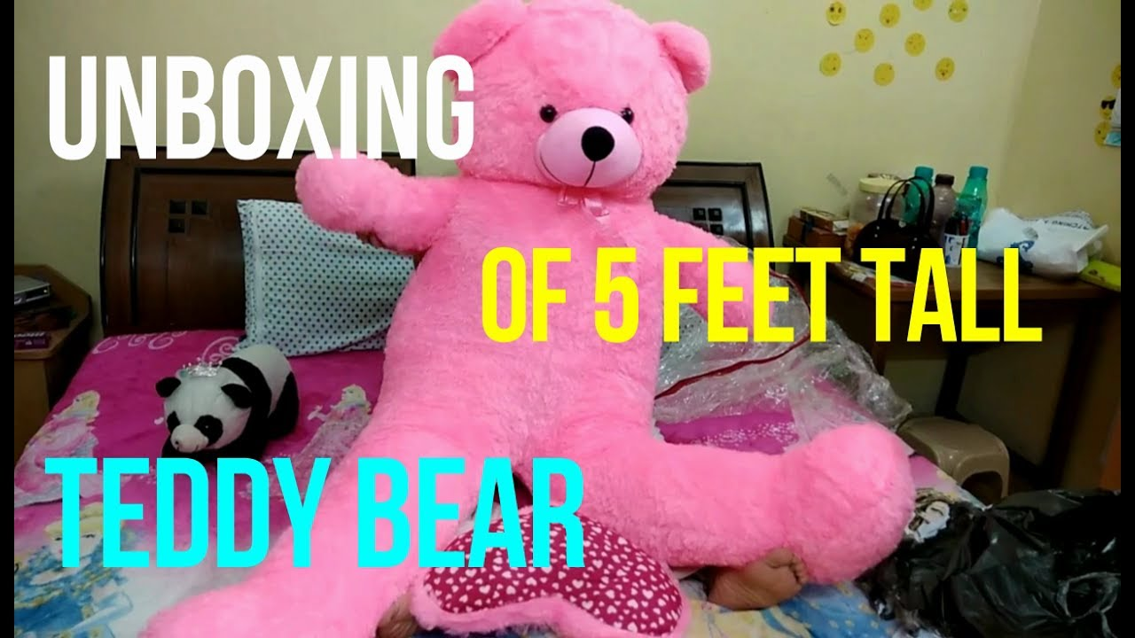 8e1bcb3d7 UNBOXING OF 5 FEET TEDDY BEAR