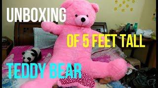 UNBOXING OF 5 FEET TEDDY BEAR Every Girl 39 s Dream Humongous Teddy Bear Micro TV