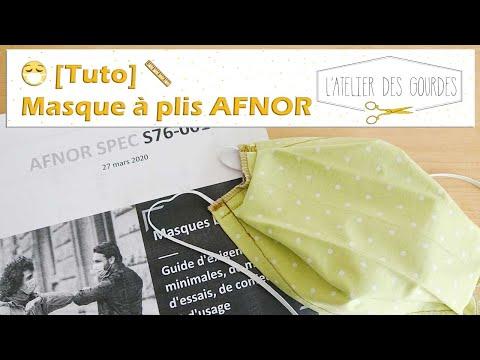 🧵 Tuto 😷 - Masque AFNOR en tissu (patron gratuit norme AFNOR - COVID19) -  L'Atelier des Gourdes
