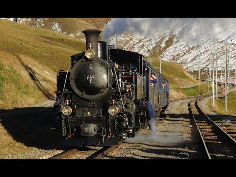 Steam on the Oberalp Pass (Switzerland) – Part 1
