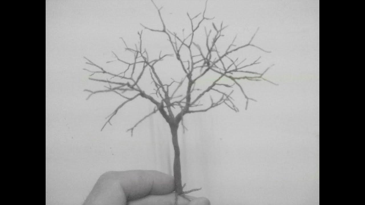 árbol Hecho Con Alambre Para Maquetas 2 Youtube