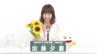 NMB48 チームM所属 加藤夕夏 (Yuuka Kato)