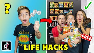 We Tested VIRAL TikTok LIFE HACKS... *TOP SECRET* (Part 2) | The Royalty Family