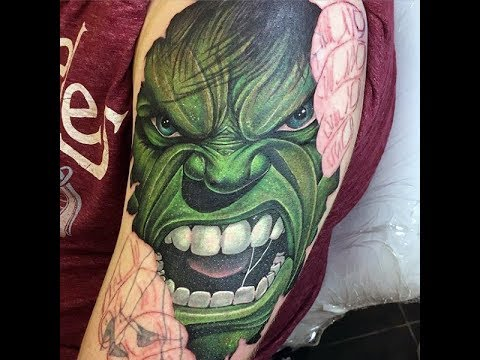 incredible hulk tattoos for men gallant green design ideas 2017 hd hd youtube. Black Bedroom Furniture Sets. Home Design Ideas