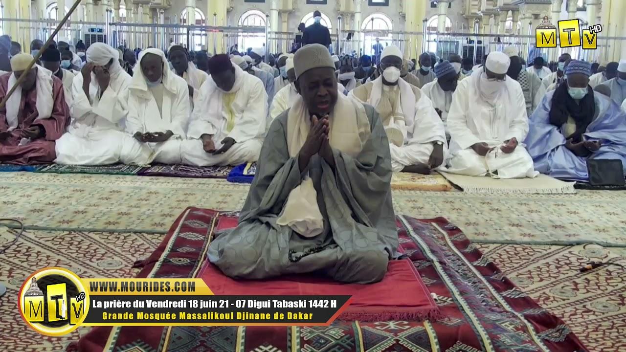 Niaane : Imam Bassirou Lo apres la priere du vendredi 18 juin 2021 Mosquée Massalikoul Djinane