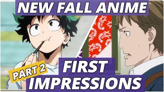 NEW FALL ANIME | Fall 2019 First Impressions (Part 2)