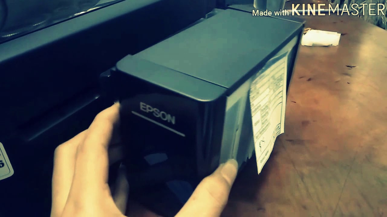 Printer Epson L220 L360 Hasil Bergaris Youtube