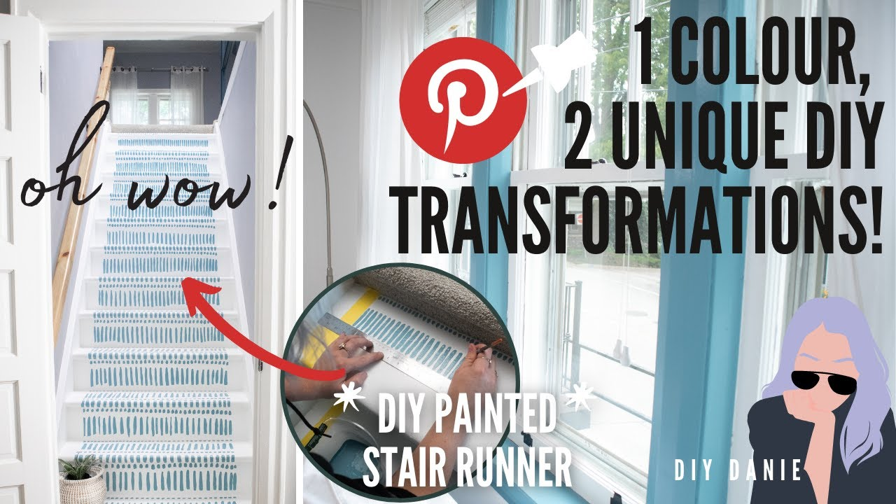1 Colour, 2 Ways: DIY Painted Stair Runner + DIY Painted Window Trim | Pinterest Made Me Do It EP 3